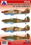 AV  7018 Hurricane MK I., IIB., IIC in SAAF Service