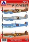 AV  7019 Spitfire MK V., VIII., IX. in SAAF Service