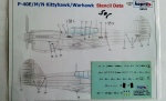 98101 P-40E/M/N Kittyhawk/Warhawk Stencil Data