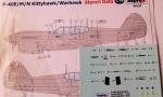 98130 P-40E M/N Kittyhawk Stencil Data