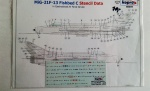 98369 MIG-21F-13 Fishbed C Stencil Data