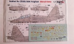 98372 Sukhoi Su-25UB/UBK Frogfoot  Stencil Data