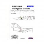 ACD 72013  F/TF-104G stencils